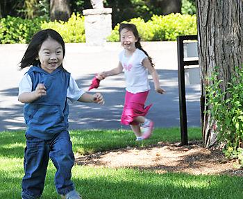 Baby j running