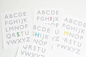 Alphabet print 02