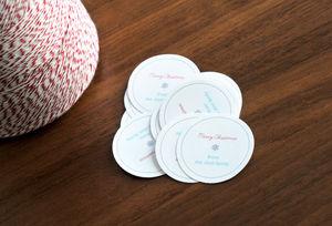 Xmas cookie labels
