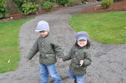 Boys holding hands