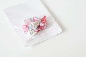 Packaged valentine candy