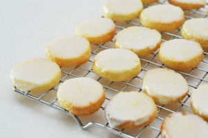 Lemon glaze cookies
