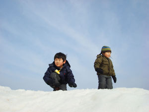 Boys on mountain 3